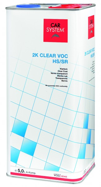2K Klarlack Clear VOC HS/SR inkl. Härter slow A+B Komp. 1,5L CS