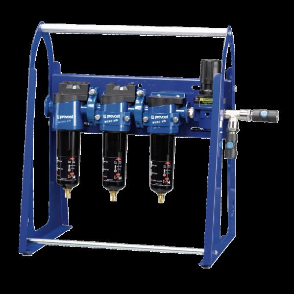 Mobile Luftaufbereitungseinheit, Filtereinheit mit Regler für Wasserlacke