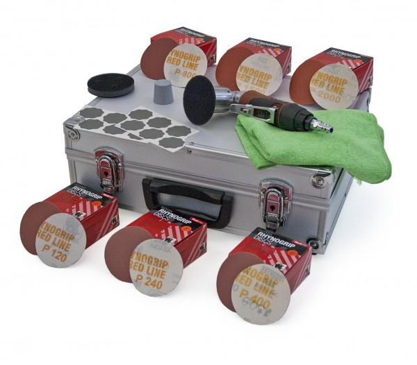 Mikroschleif System MAXI RED mit mini Exzenterschleifer